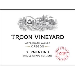 Troon Vineyard Estate Orange Wine - Kubli Bench Vermentino Applegate Valley 2017