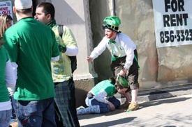 St. Patrick's Day as observed by many. (Your family must be proud...)
