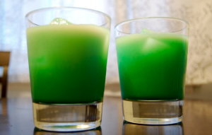Crème de Menthe has you seeing green