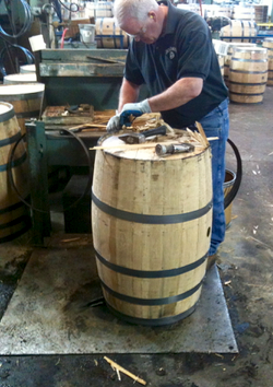 Barrels crafted at Brown-Forman Cooperage
