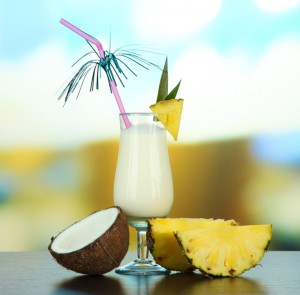 Piña Colada at the Caribe Hilton