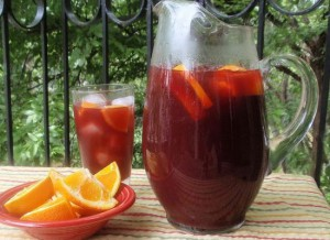 Sangria on the Patio in Spring
