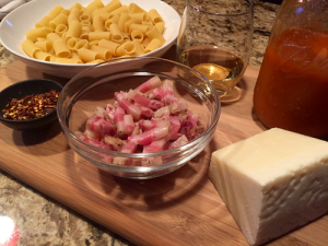 Pasta Amatriciana Set-up