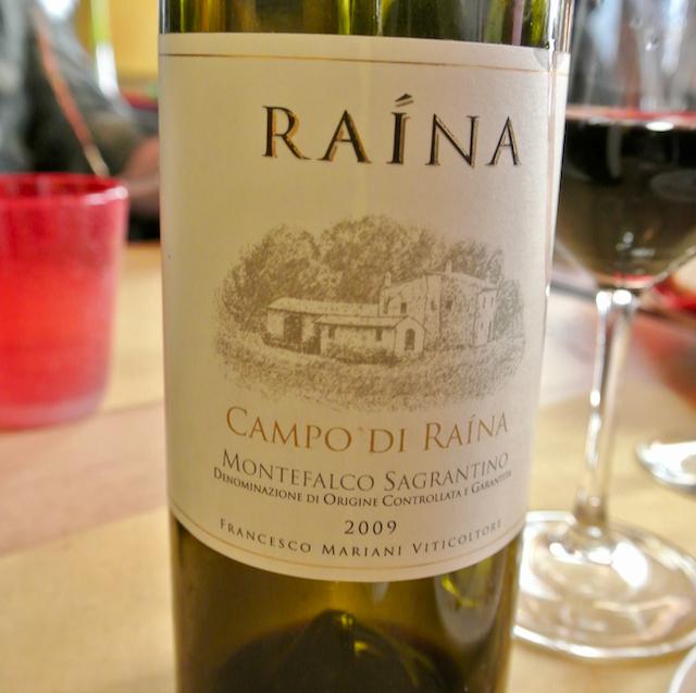 Bottle of Montefalco Sagrantino